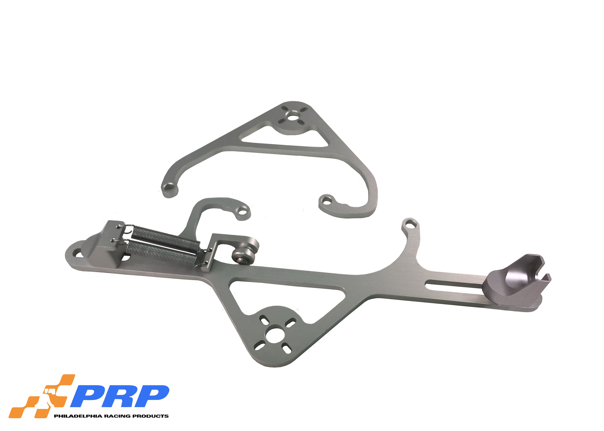 Clear 4150 Nitrous Valve Mounting Brackets with Throttle Bracket made by PRP Racing Products