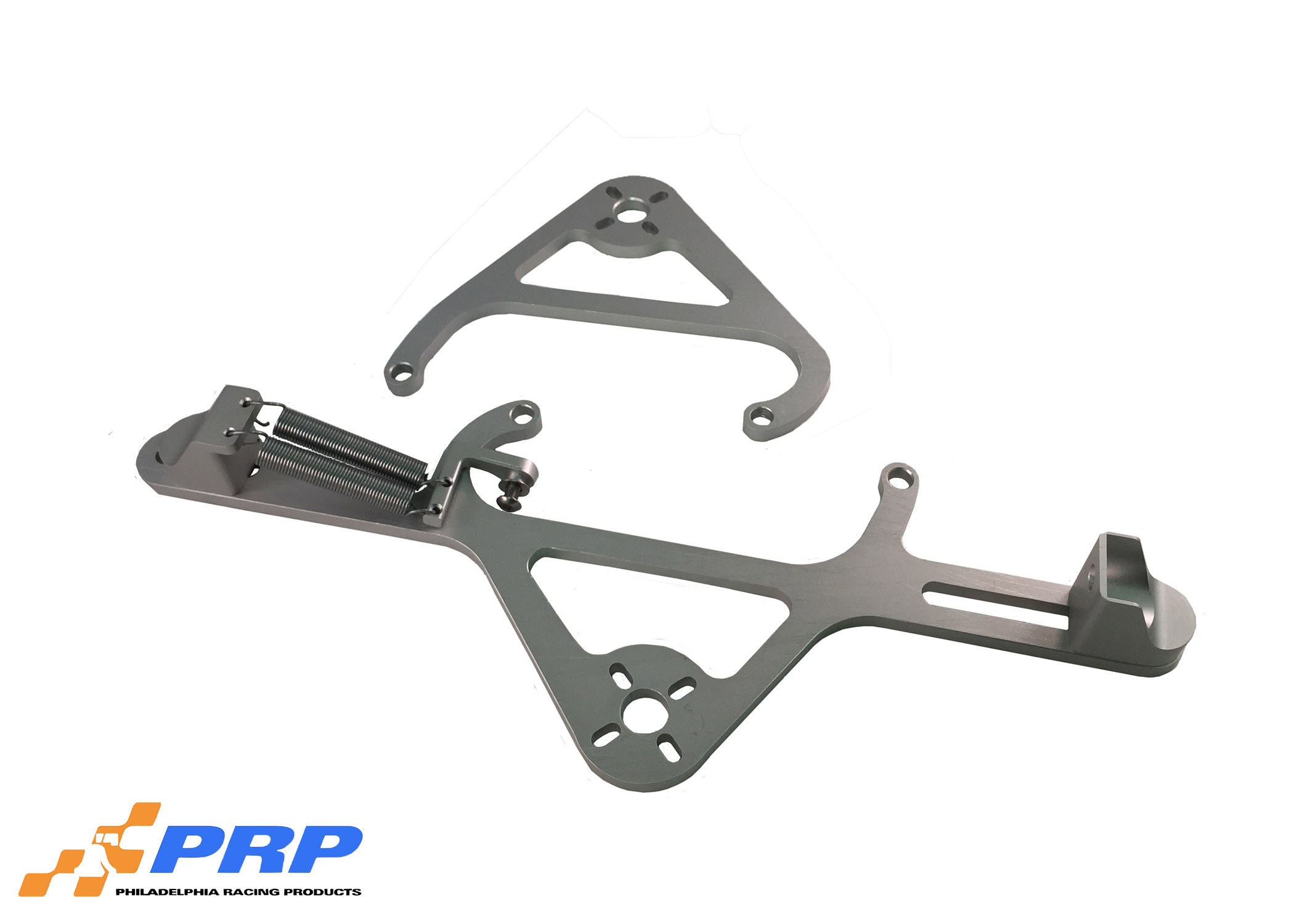Clear 4500 Nitrous Valve Mounting Brackets with Throttle Bracket made by PRP Racing Products