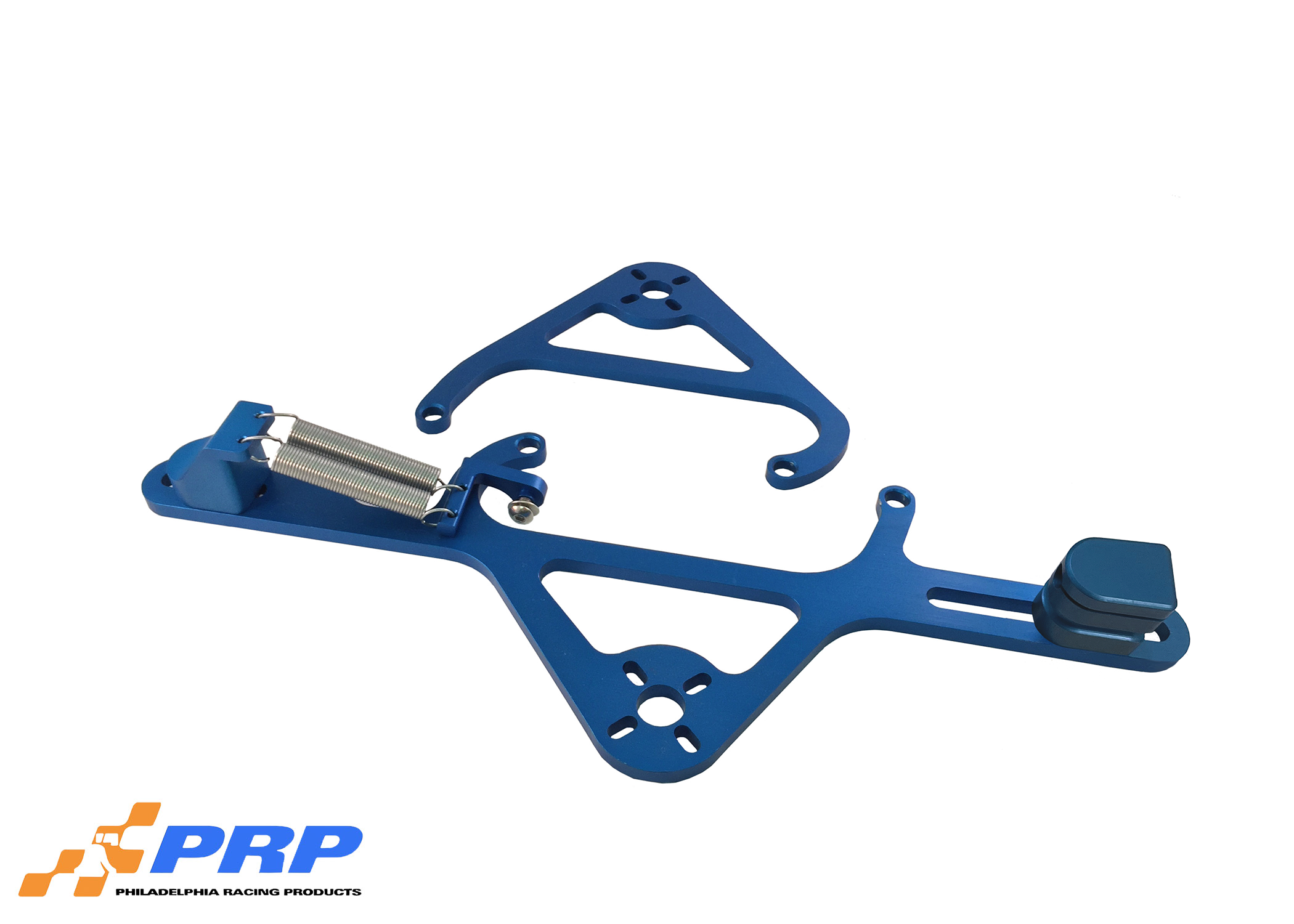 Blue 4500 Nitrous Valve Mounting Brackets with Throttle Bracket made by PRP Racing Products