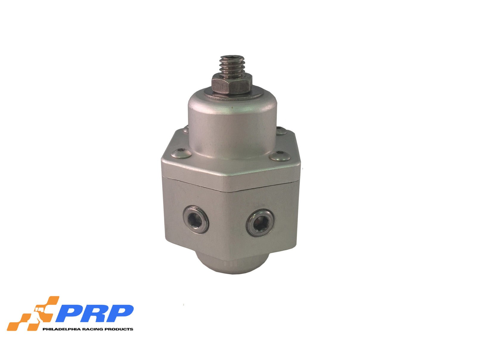 Clear Fuel Pressure Regulator made by PRP Racing Products Main Picture front-top view