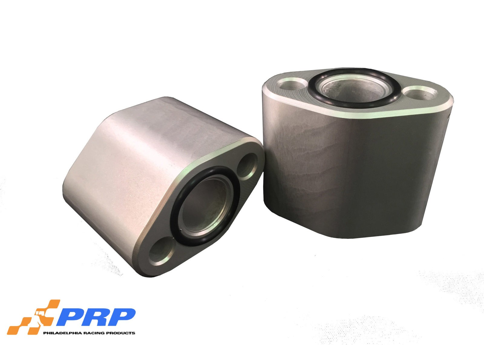 """Clear SBC 2-1/4"""" water pump spacer made by PRP Racing Products"""