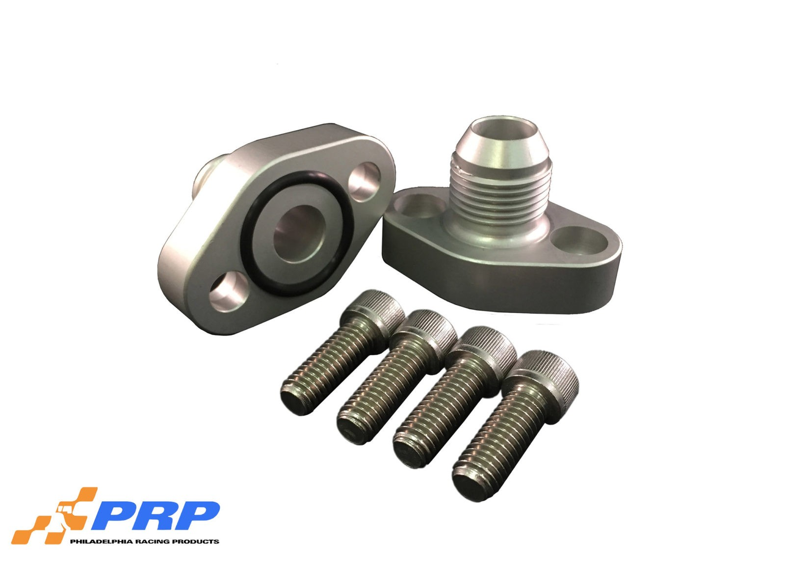 Clear SBC 12AN Block Adapters made by PRP Racing Products