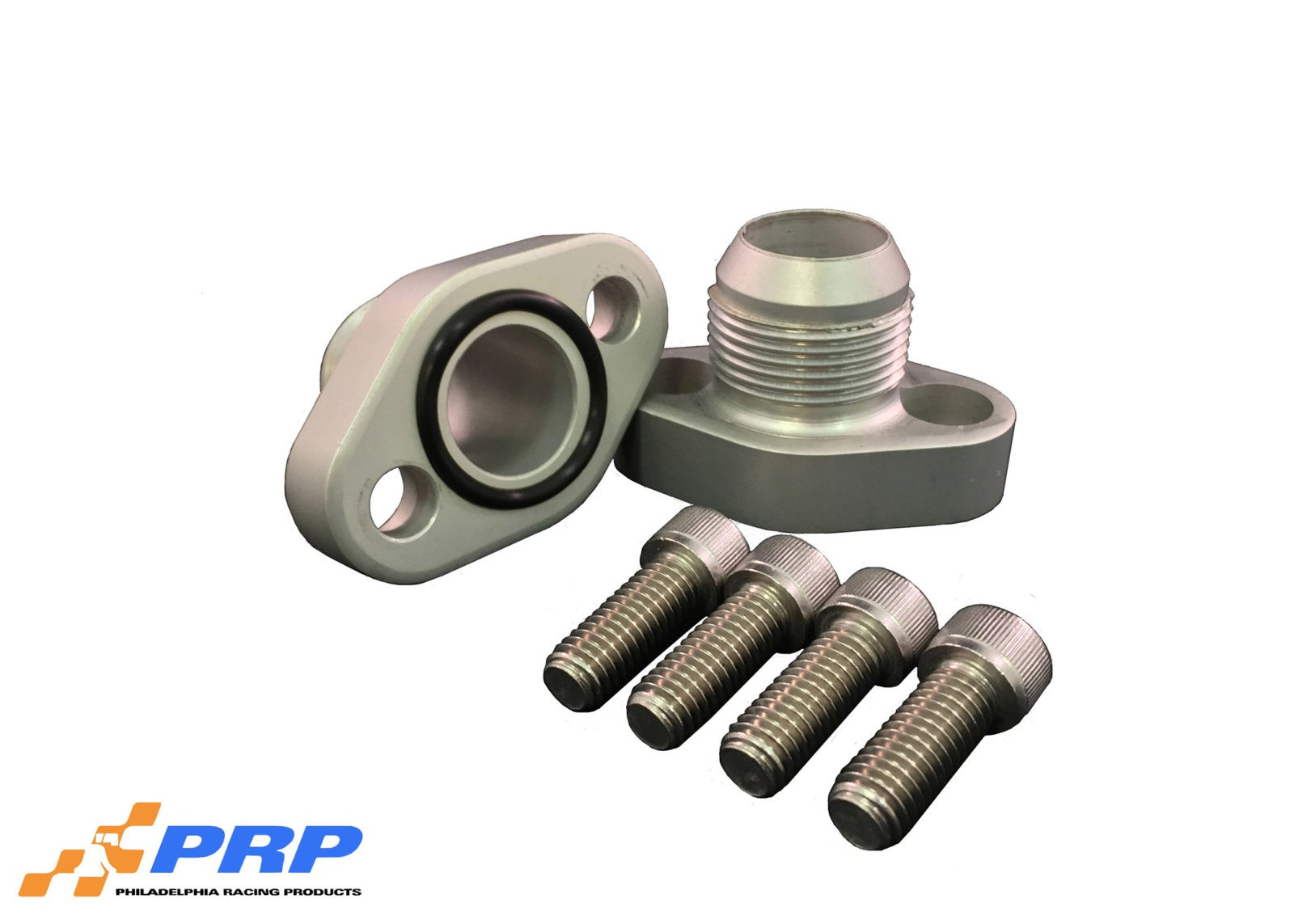 Clear SBC 16AN Block Adapters made by PRP Racing Products
