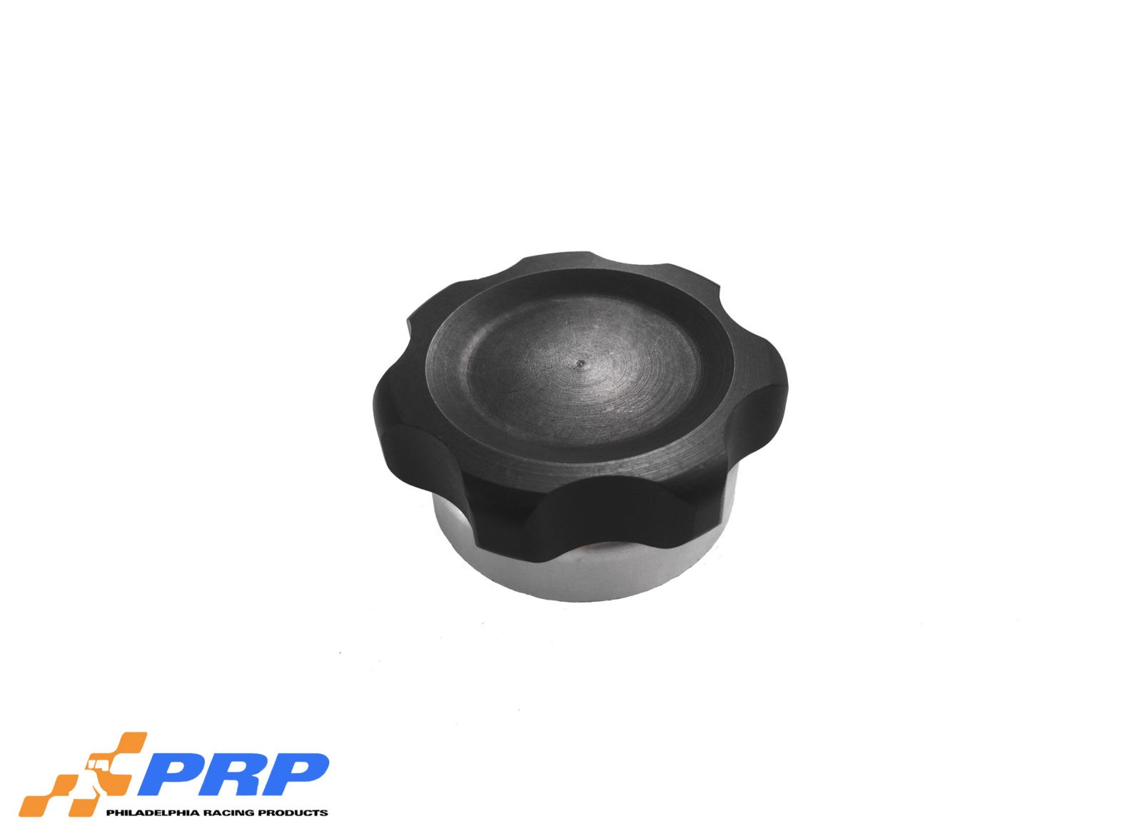 Black Anodized small Billet Filler Cap Kit made by PRP Racing Products