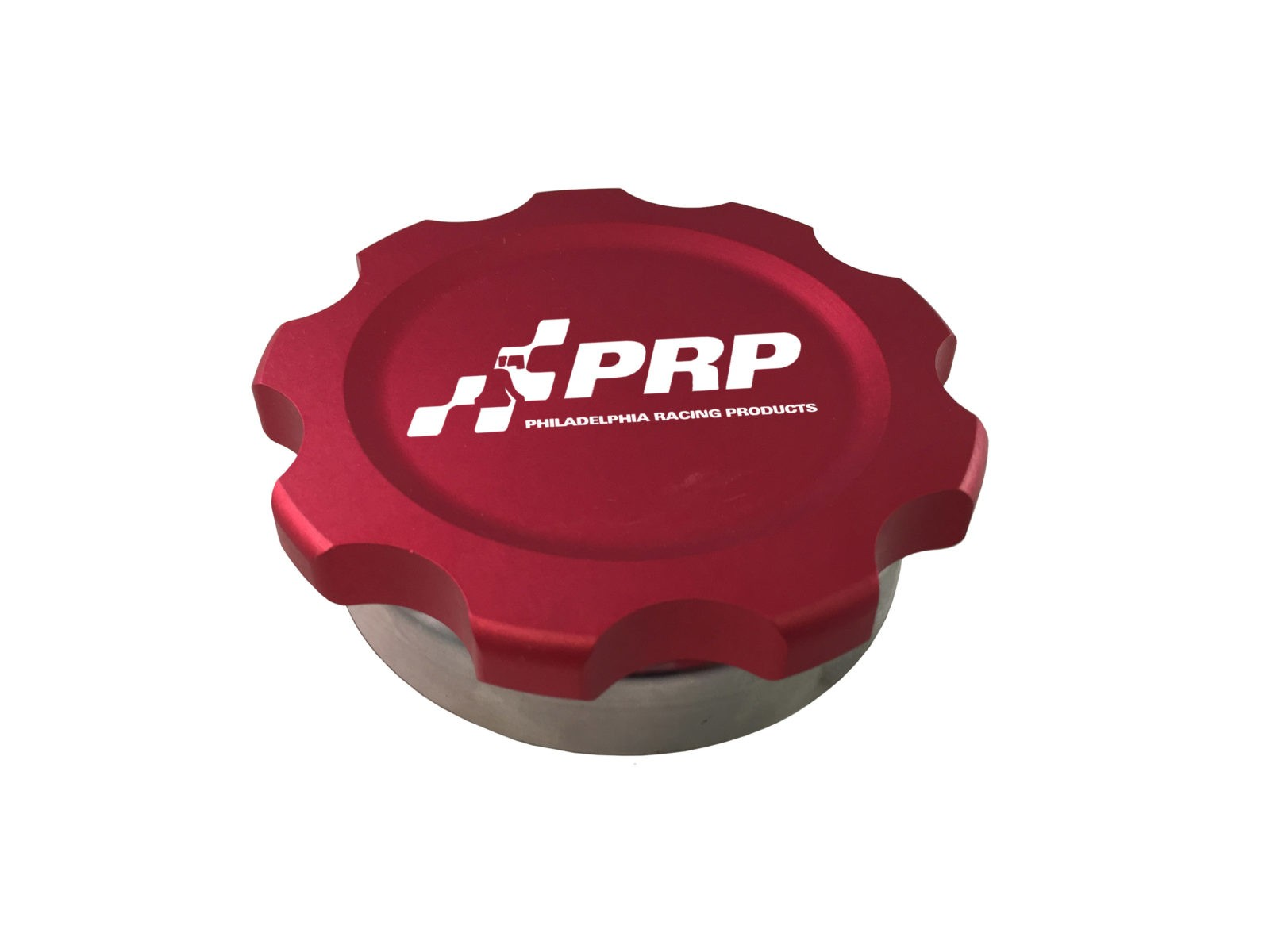 Red Billet Filler Cap with Aluminum Bung made by PRP Racing Products
