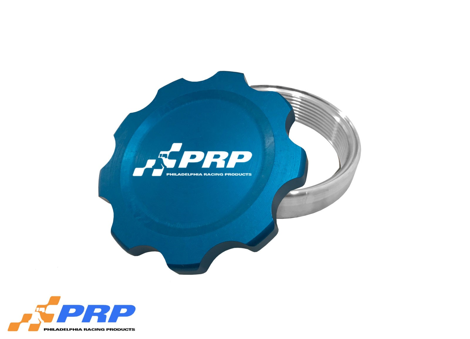 Blue Anodized large Filler Cap Kit made by PRP Racing Products