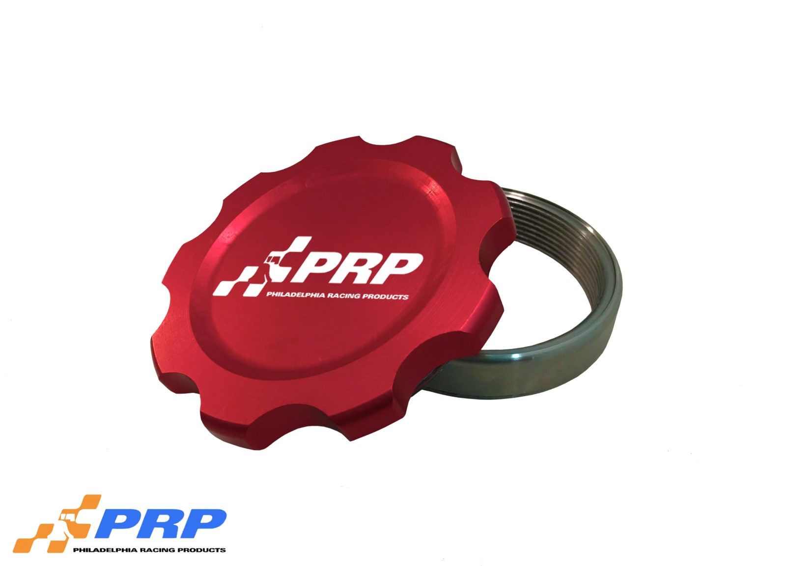 Red Billet Filler Cap with Steal bung made by PRP Racing Products