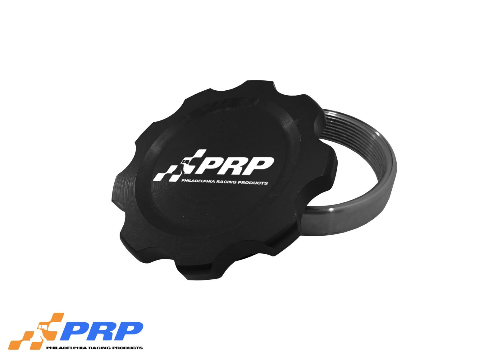 Black Anodized large Filler Cap Kit made by PRP Racing Products