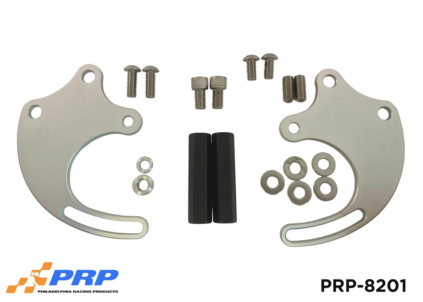 Silver and Black Power Steering Pump Mounting Bracket Kits