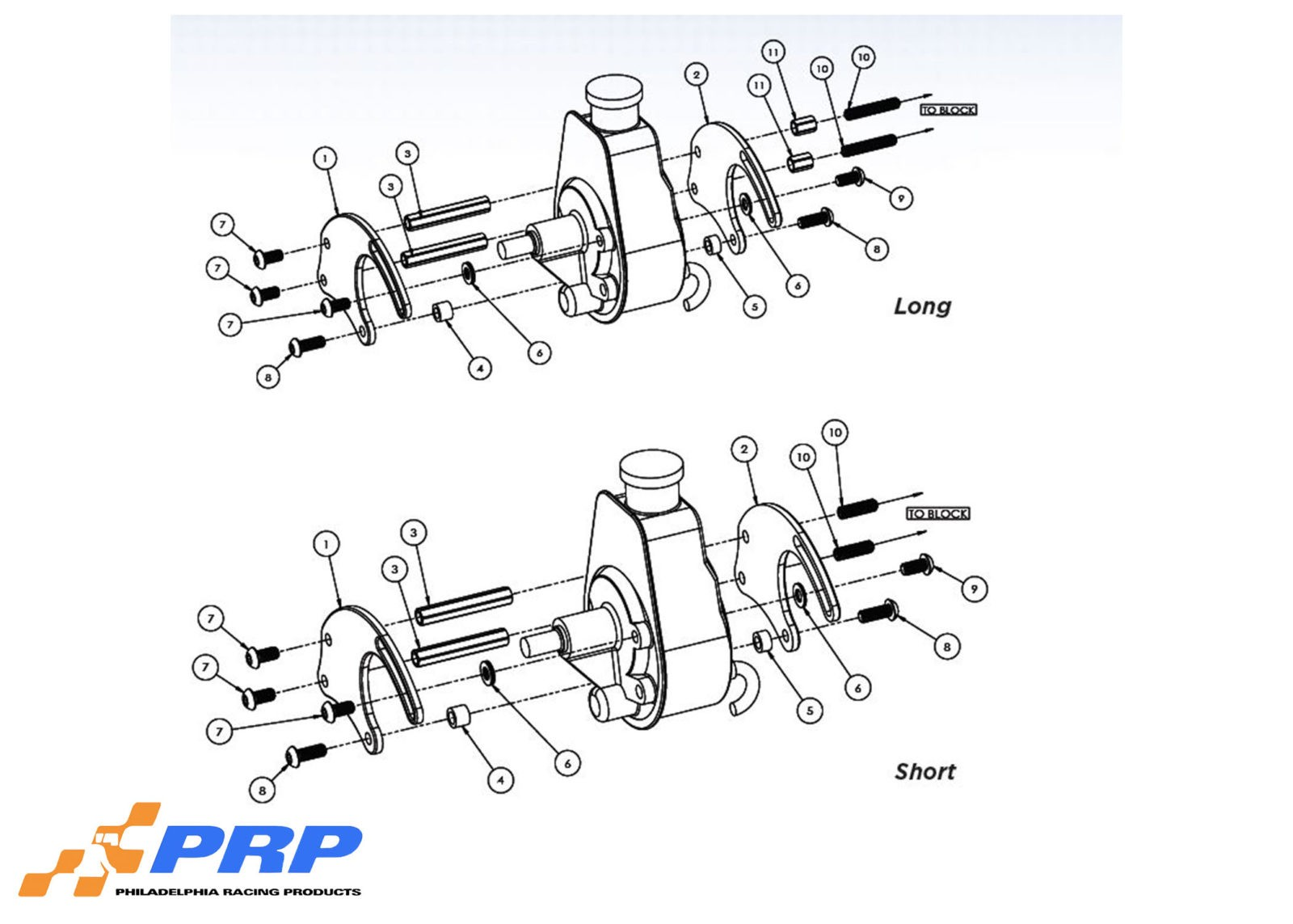 Power Steering Pump Mounting Bracket Kit Graphic Made by PRP Racing Products