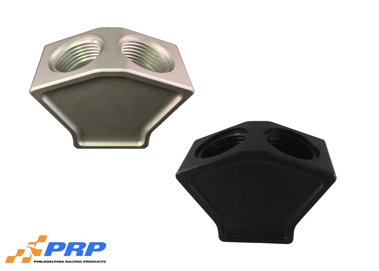 Clear and Black 2 to 1 Y-Block made by PRP Racing Products