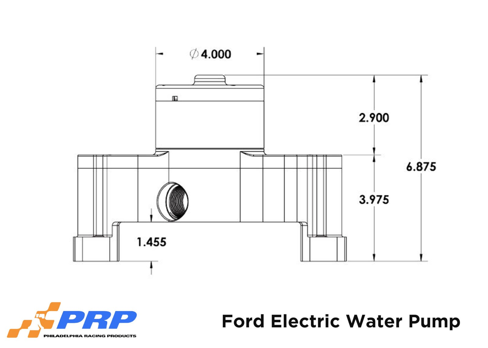 Ford Electric Water Pump schematics graphic maybe by PRP Racing Products