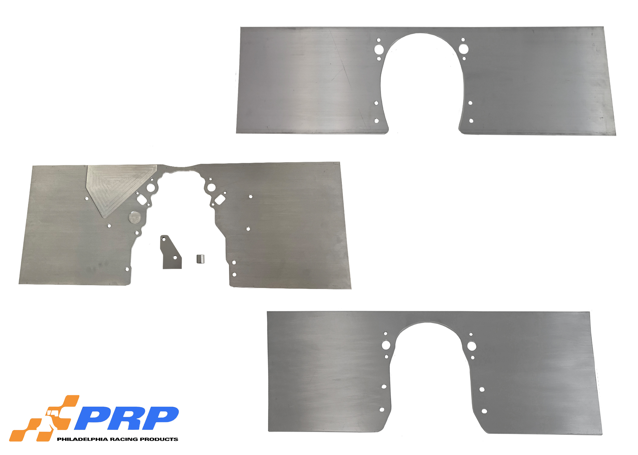 Silver Chevy Front Motor Plates made by PRP Racing Products