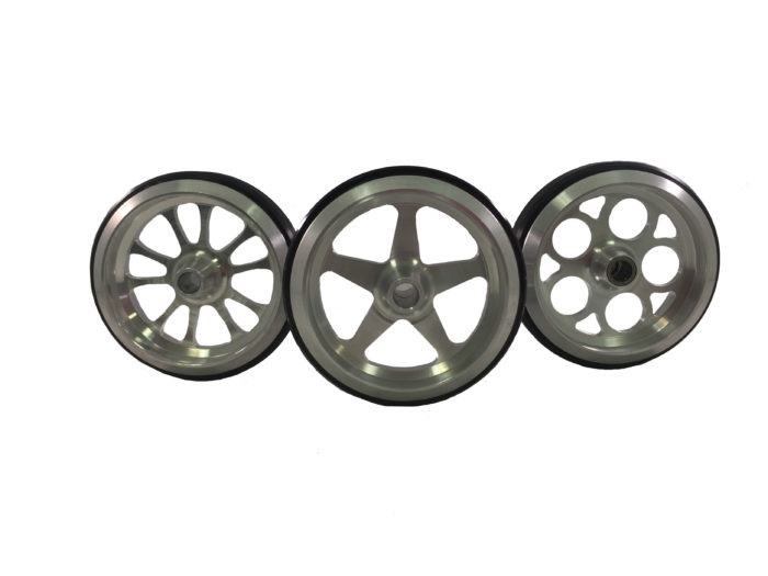 Clear Billet Wheelie Bar Wheels made by PRP Racing Products