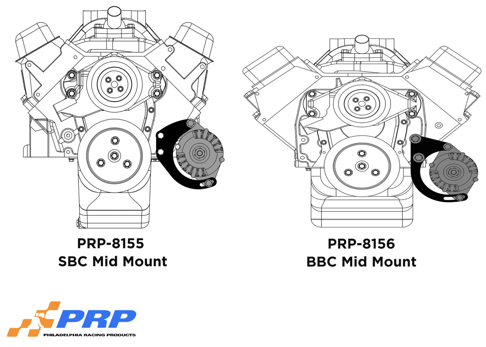 Alternator Mounting Brackets graphic made by PRP Racing Products