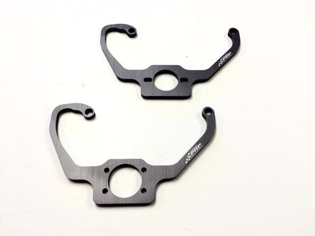 Black Stealth Regulator Brackets made by PRP Racing Products