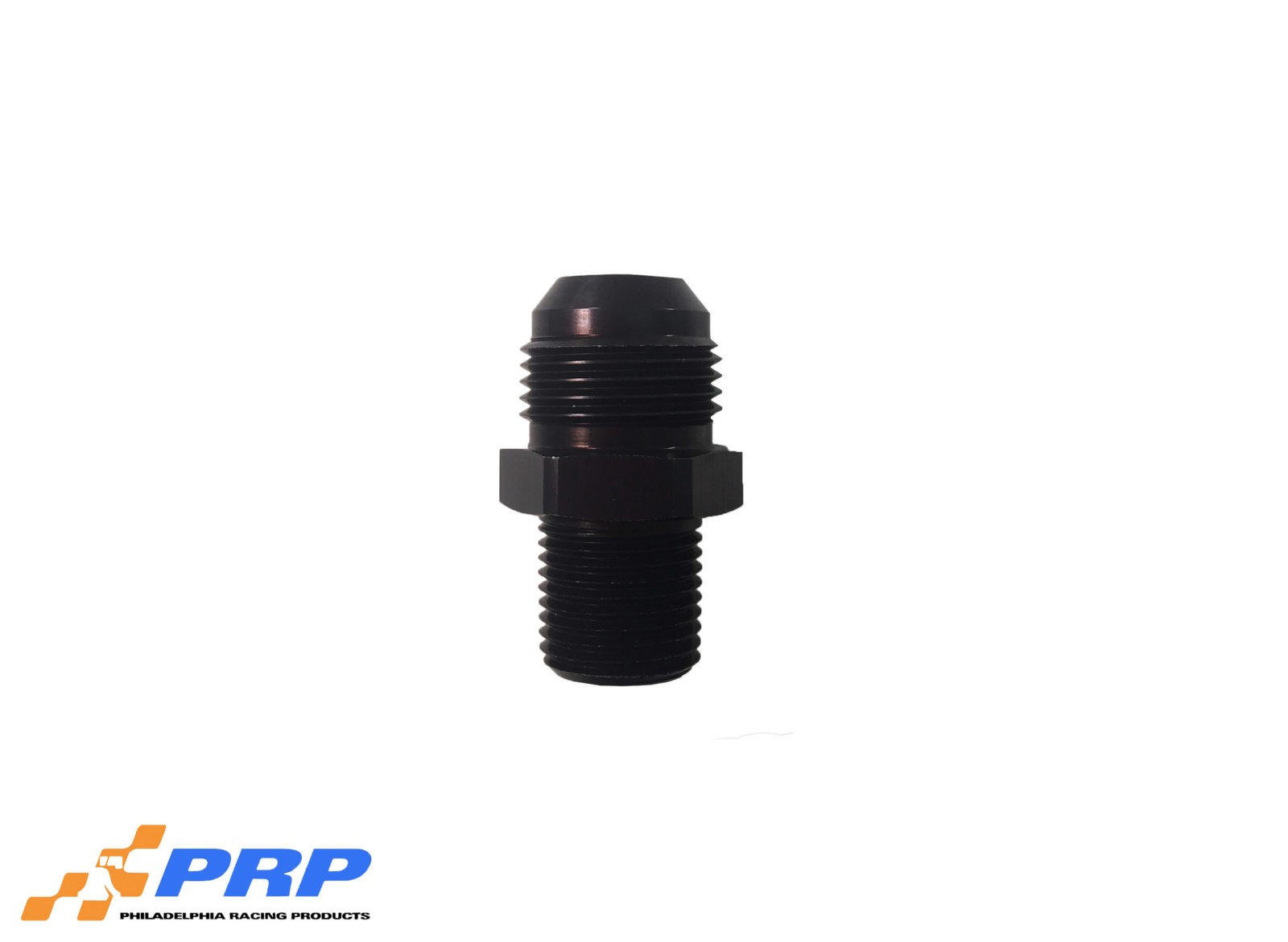 "Black 12AN to 1/2"" Pipe Straight Flare to Pipe Adapters by PRP Racing Products"