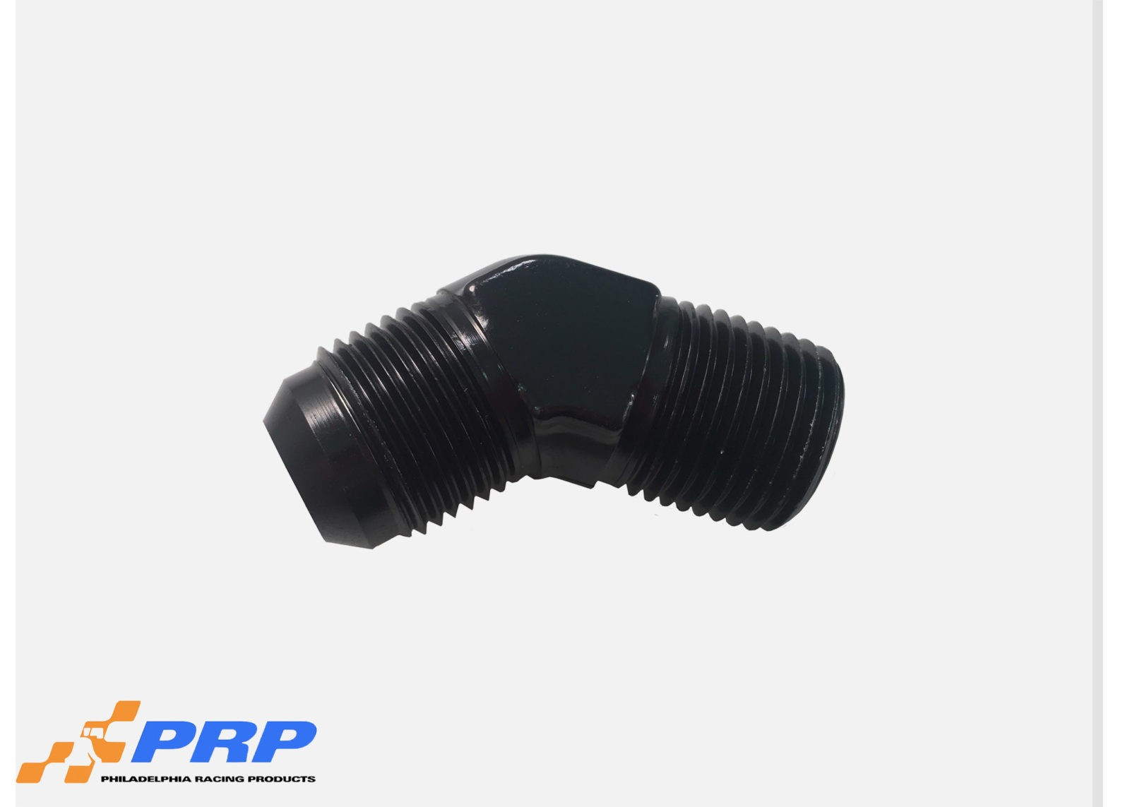 Black 45 Degree Flare to Pipe Elbow made by PRP Racing Products