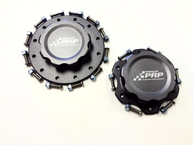 Black Stealth Fuel Cap made by PRP Racing Products