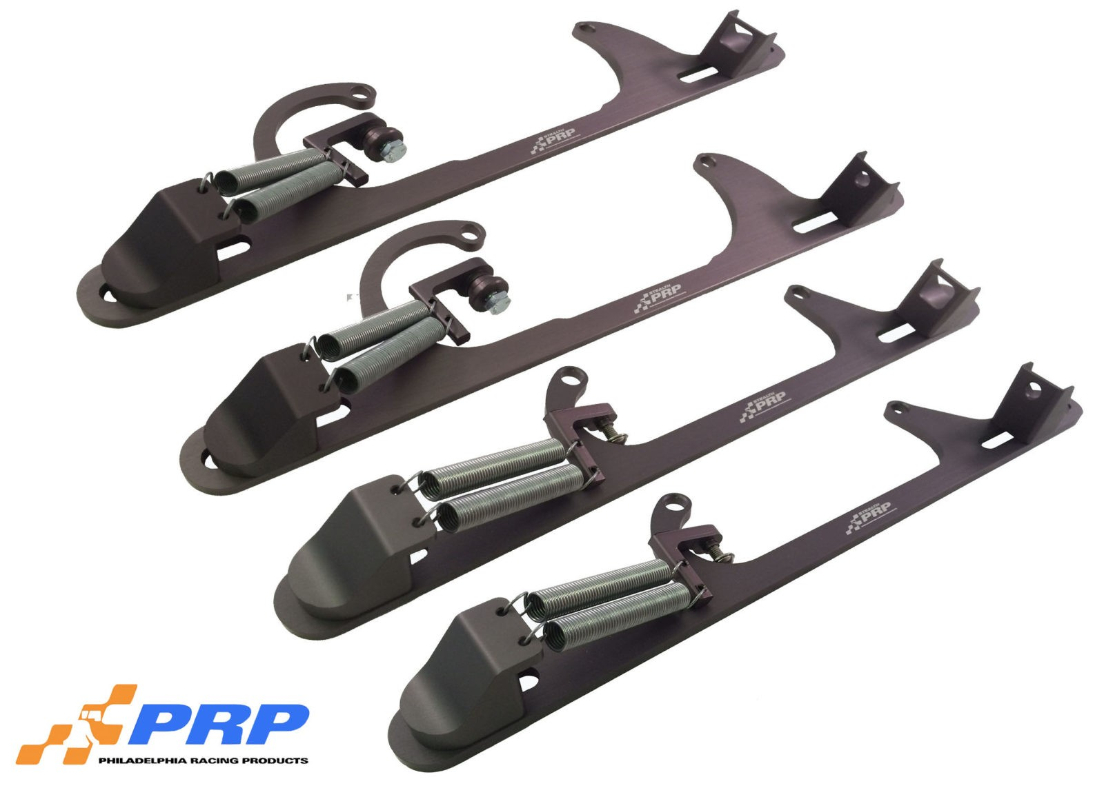Gun Metal Stealth Throttle Brackets made by PRP Racing Products