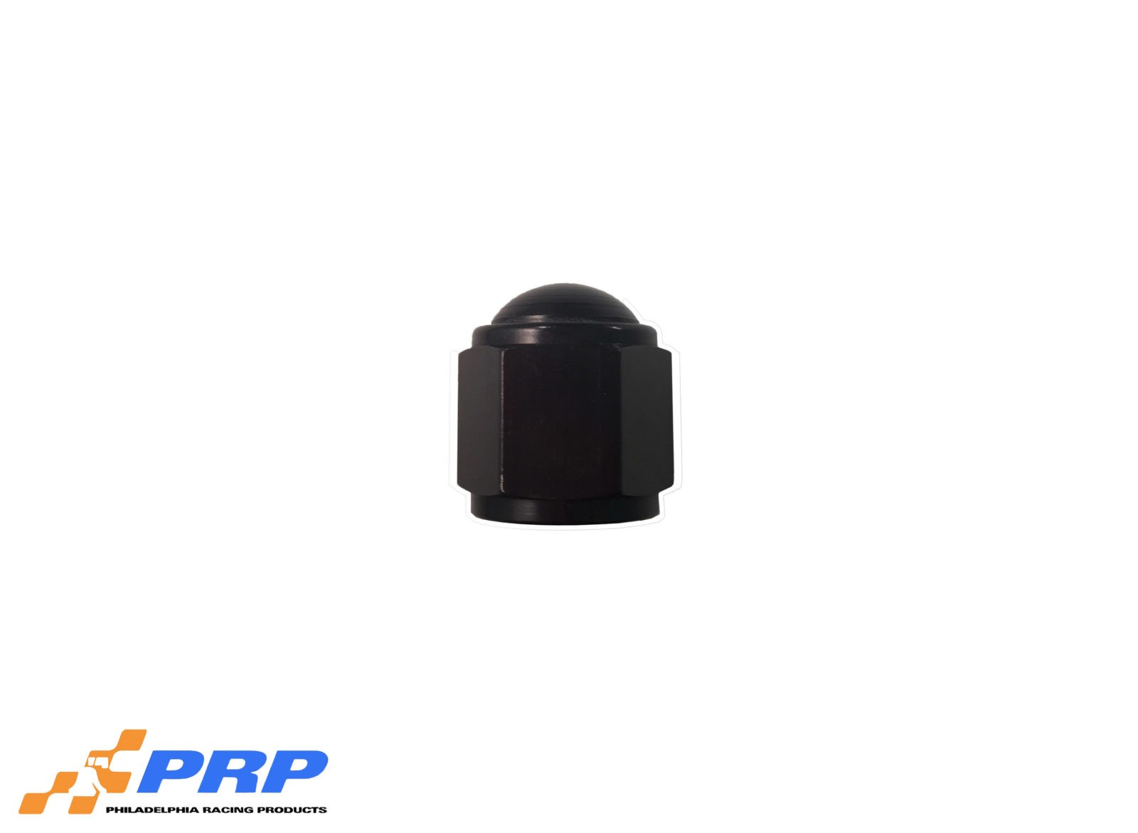 Black Flare Caps - 10-AN made by PRP Racing Products
