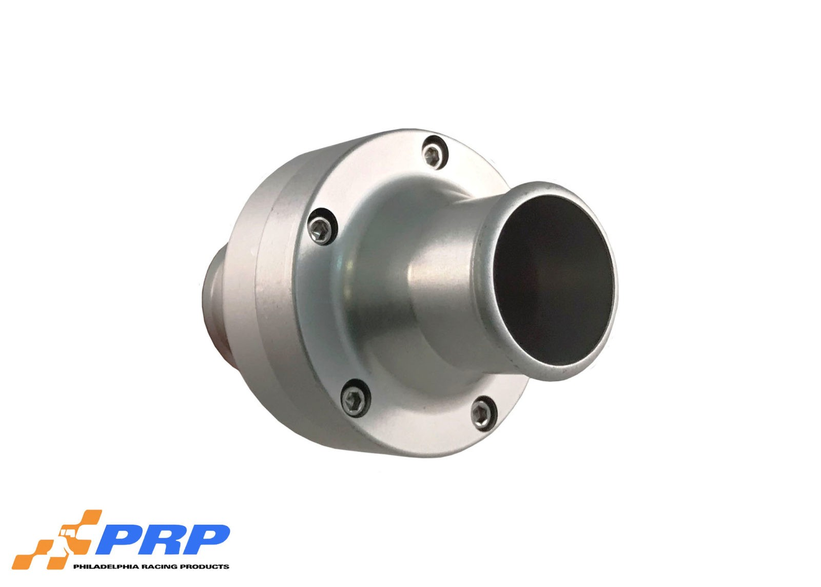 Clear Inline Thermostat Housing Made by PRP Racing Products Side View