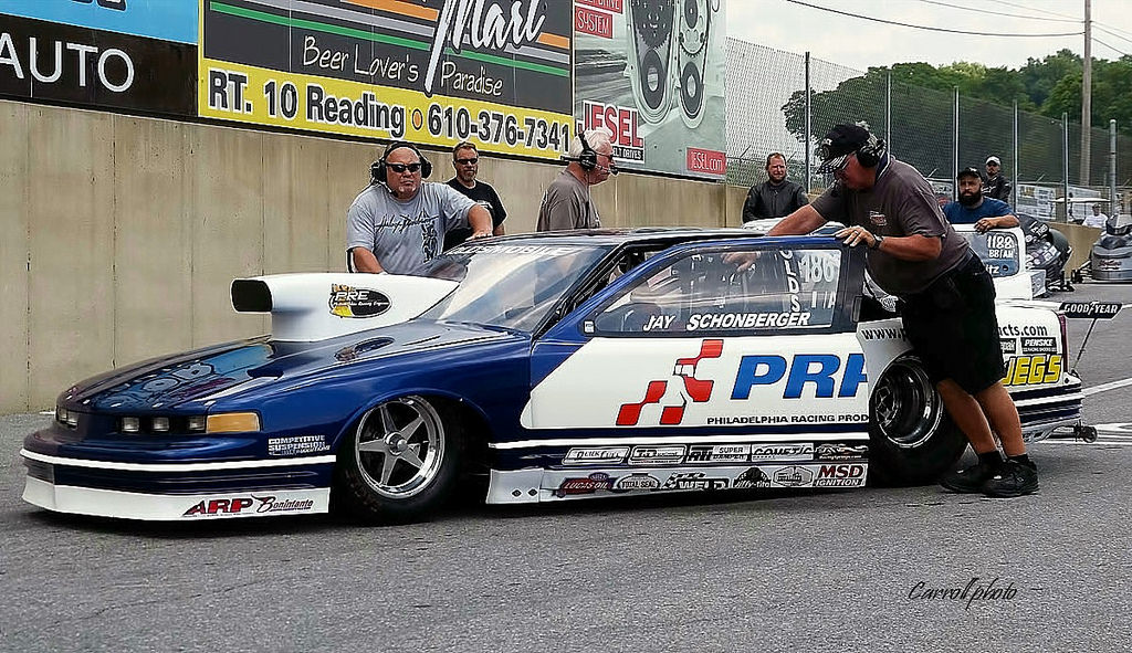 PRP Racing Products Race Car on Race Track