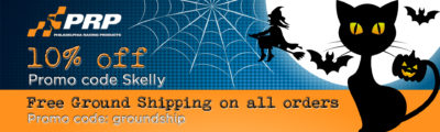 Halloween Sale Philadelphia Racing Products ten percent off free ground shipping on all orders