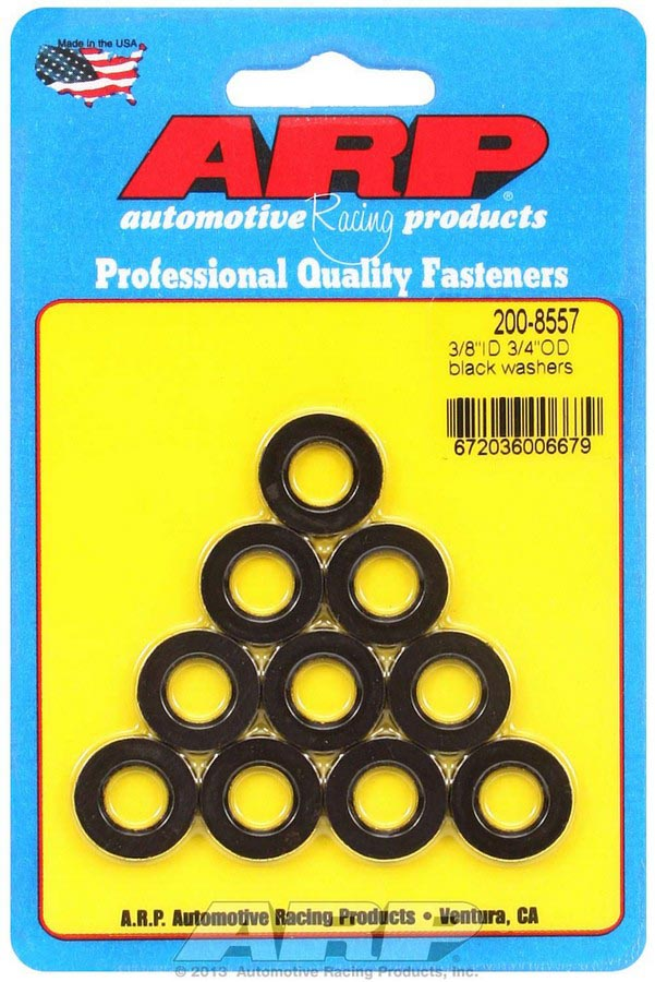 ARP's 3/8 Id Black Washers PRP Racing Products