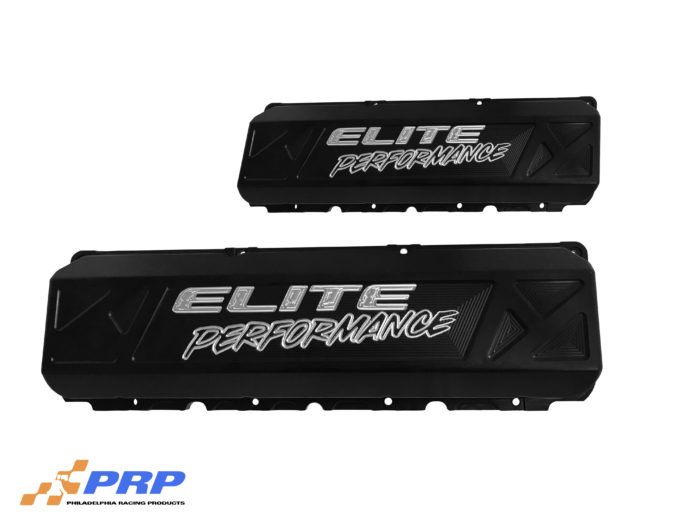 PRP Racing Products Black Anodized and etched Elite Performance Valve Covers