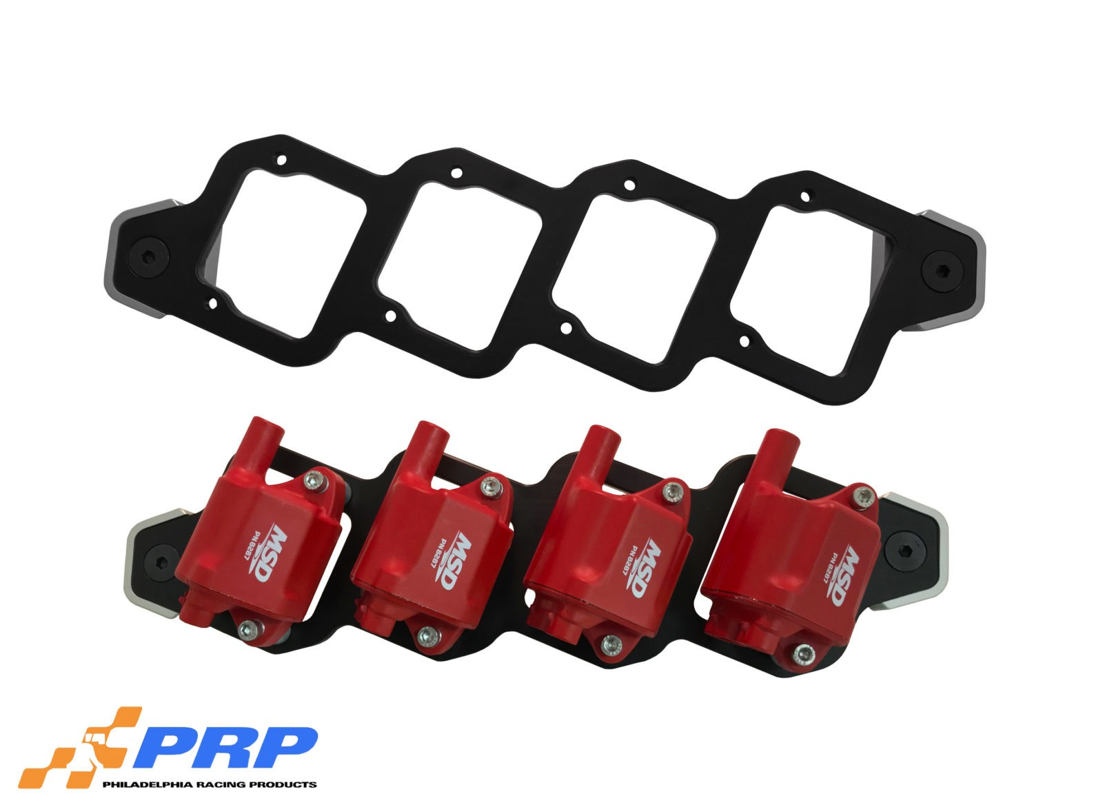 Black and Clear Chevy LS Billet Coil Mounting Bracket Fits LS2 & LS7 made by PRP Racing Products