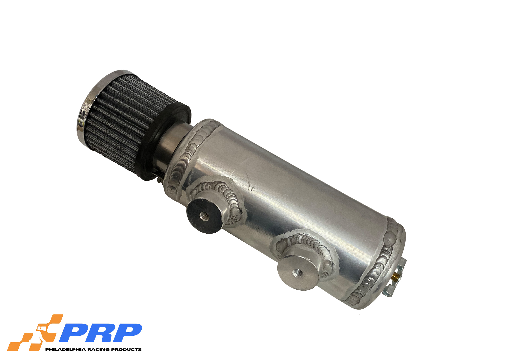 Aluminum Breather Tanks side view made by PRP Racing Products