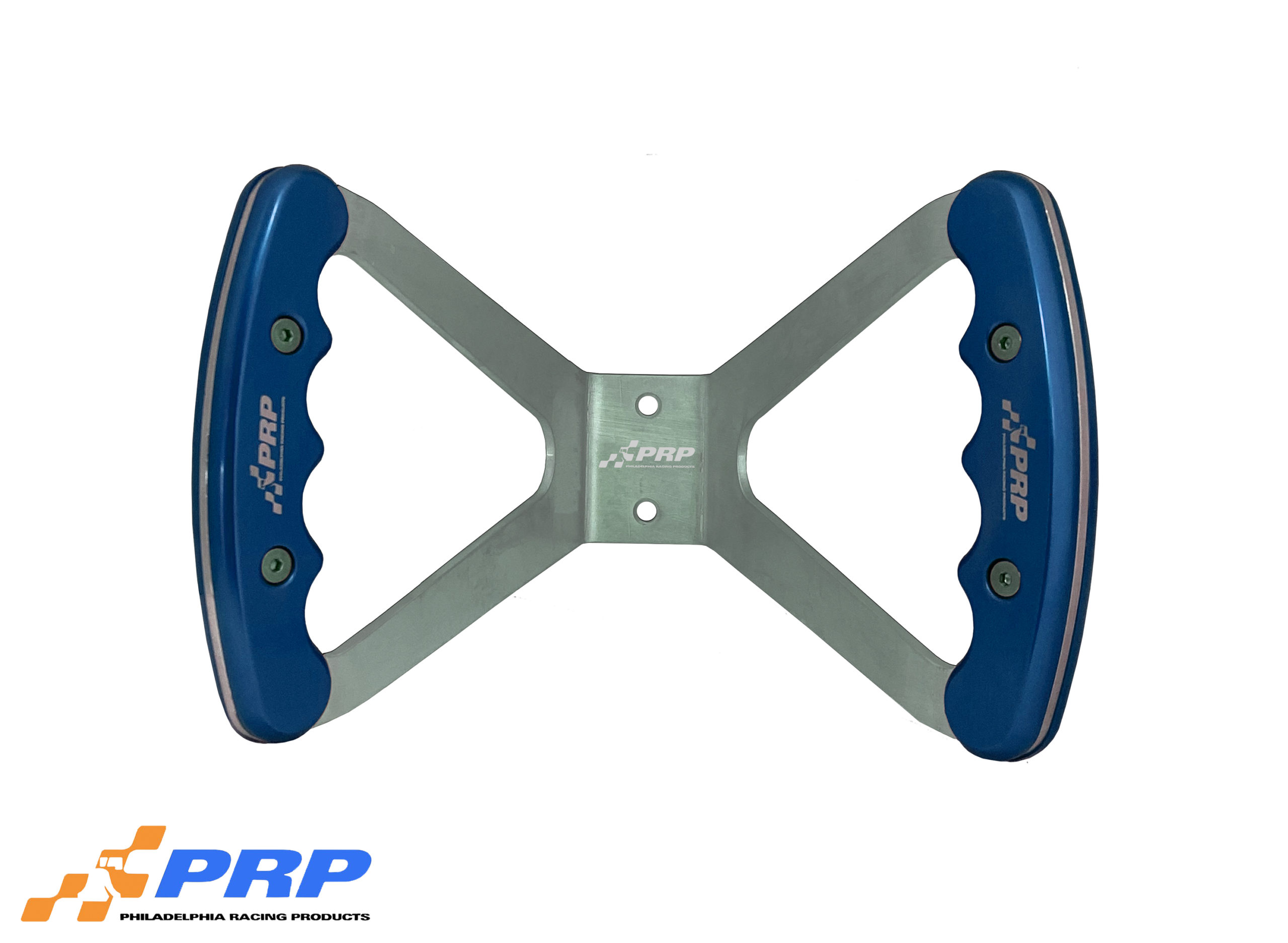 Jr. Dragster Butterfly Steering Wheels Blue Grips on Silver wheel made by Philadelphia Racing Products